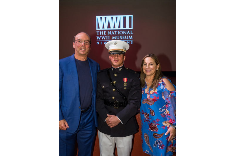 Stuart Grant of Delaware, left, and his wife Suzanne Grant flank their Sam, a 2019 graduate of Tulane and a lieutenant in the United States Marine Corps.